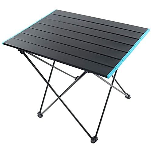 Mesa de camping plegable al aire libre portátil de aleación de aluminio mesa de barbacoa adecuada para picnic, camping, playa