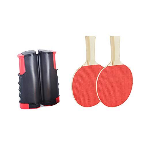 Multifunctioneel tafeltennisset met 2 tafeltennistafels 1 Instant intrekbaar rekaccessoire Draagbaar racket Clip-on klem