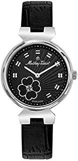 Mathey Tissot Fiore Women's Black Dial Leather Band Watch - D1089aLN
