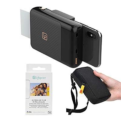 Lifeprint 2x3 Instant Print Camera for iPhone (Black) Travel Kit from Lifeprint