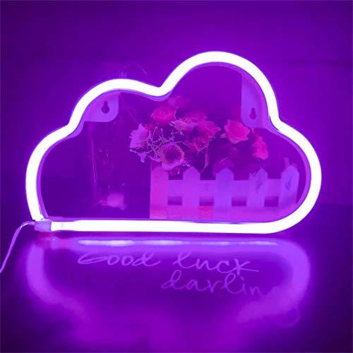 Wolken Neonlicht, LED Neon Schild Kreative Licht Neonlichtschild LED-Schild Wolke Neonlicht für Schlafzimmer Mädchen Wanddekoration Licht Wanddekoration (Lila)