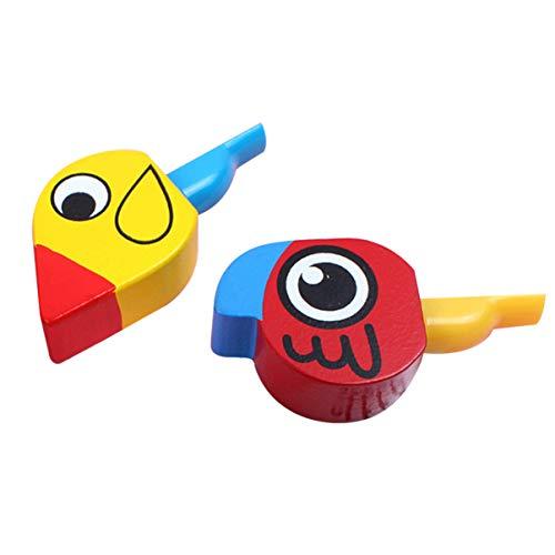 Artibetter 2 Stks Vogel Fluit Houten Fluitjes Kinderen Grappige Fluit Speelgoed Kinderen Educatief Muziekinstrument Speelgoed Voor Tieners Kid Kind (Willekeurige Kleur)