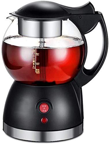 0.8L Automatik Edelstahl-Heißdampf für Tee und Kaffee-Glaskessel Elektro underpan Heizung Küche Pot of Health 580W