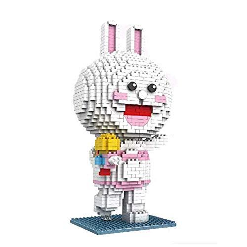 Portonss Oso en Miniatura para niños, Modelo de Bloque de construcción Educativo, Conejo de Juguete, muñeca móvil, ladrillo pequeño, Regalo del día de San Valentín