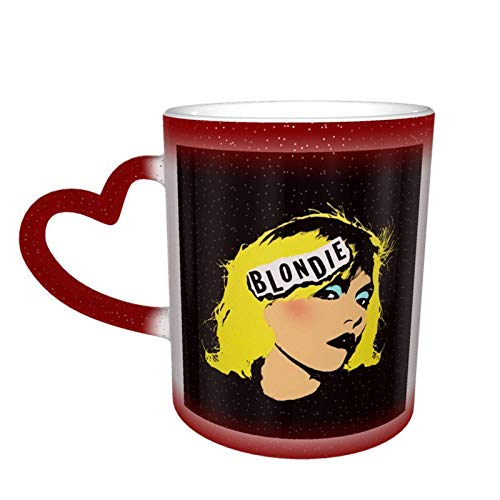 Taza que cambia de color de Golden Warhol Girls en el cielo Taza de cerámica Taza de café Regalo de cumpleaños de Navidad
