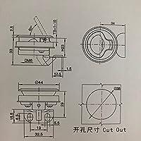 空気圧研磨 キーが付いている用具箱のドアのCavaranのためのキャンピングカーロックのキャンピングカートラックのツールボックスロックロック (Size : 2990-1)