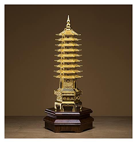 Chul hsin Adornos de Cobre Wen Chang Tower Home Jewelry Crafts Real Gold Foil Pegatinas (Color : Man Cheong Pagoda)
