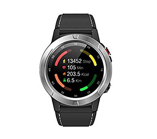 Reloj inteligente, pantalla IPS de 1,3 pulgadas, GPS integrado, posicionamiento preciso, modo multideporte, detección de salud, compatible con Android e iOS (color: plata)