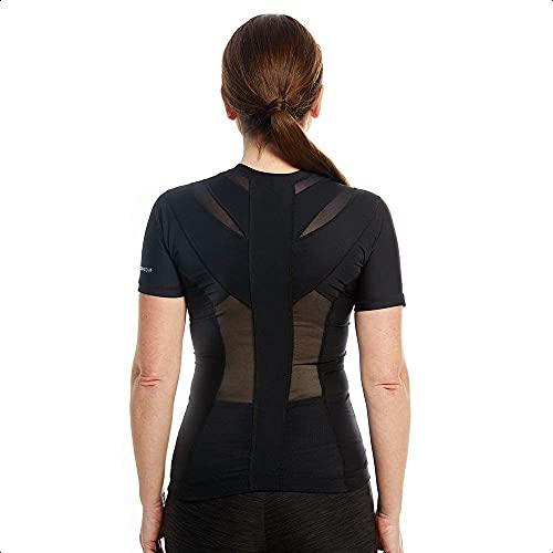 Anodyne Posture Shirt 2.0 Zip (mit Reißverschluss) - Frauen | Haltungsshirt zur Haltungskorrektur | Haltungs T-shirt gegen Schmerzen & Spannungen | Geradehalter Tshirt für Aufrechte Körperhaltung |