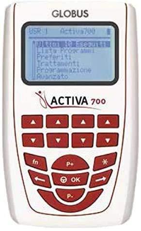 Globus ACTIVA 700 +FAST BAND e PAD elettrostimolatore e fasce gambe glutei girovita