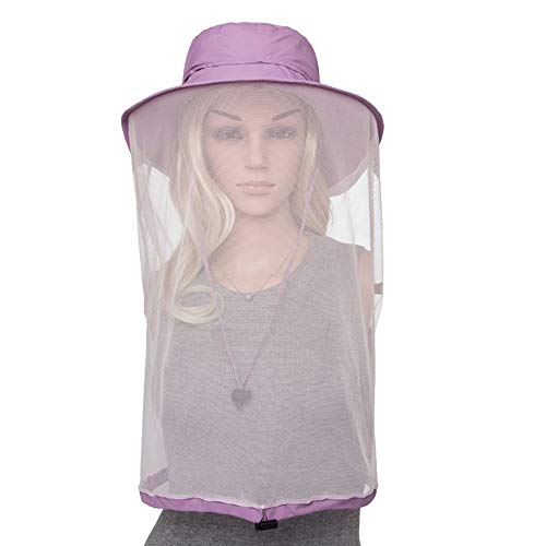 CLII Repelente de Insectos Sombrero, Safari Sombrero de Boonie con Ocultos Mosquitero, de ala Ancha Sombrero para el Sol Hombres Mujeres, UPF 50 Mosquito Net Head Sombrero