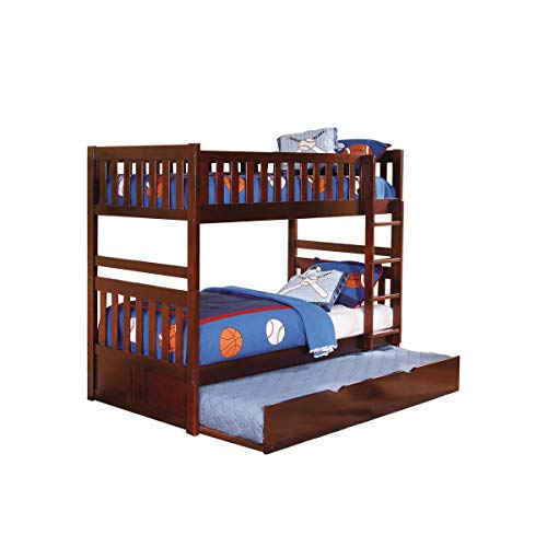 Rowe Collection Twin/Twin Bunk Bed in Dark Cherry Finish by Homelegance