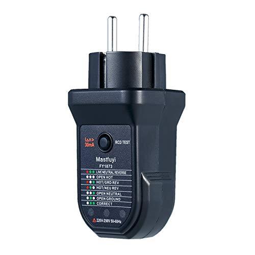 Steckdosentester KKmoon Advanced RCD Automatischer Neutralleiter Erdungskabel Polaritätsdetektor Elektrischer Dichtheitsprüfgerät
