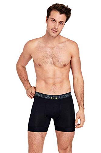 Bonds Men's Underwear X-Temp Air Trunk, Nu Black, Medium