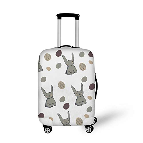 Mesllings Travel Bagage Cover Koffer Beschermer Past op 18-32 Inch Bagage Pasen Konijnen en Eieren