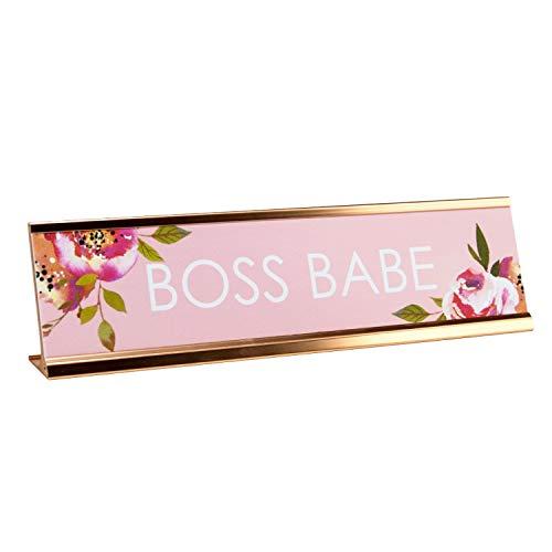 Boss Babe Desk Plate/Boss Babe Desk Sign Nameplate