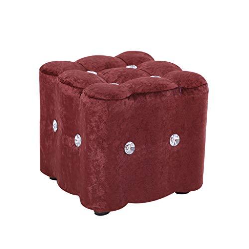Sgabello in legno stile giapponese alla moda, sgabello quadrato per bambini, sedia moderna per soggiorno, tavolino da caffè (30 x 30 x 25 cm)