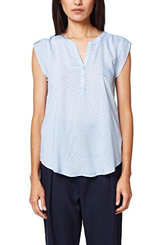ESPRIT Damen 998EE1F804 Bluse, Blau (Light Blue 440), 36