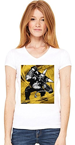 Graphic Birdie Illustration T-shirt col V de la femme Small