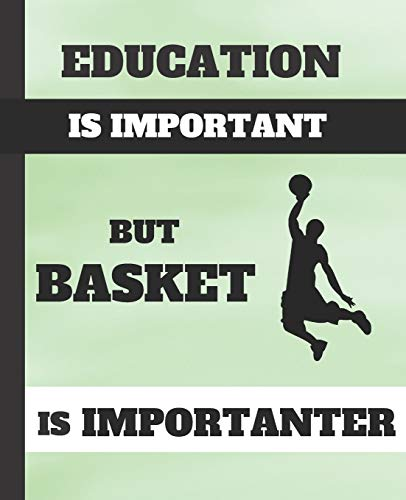 EDUCATION IS IMPORTANT, BUT BASKET IS IMPORTANTER: COMPOSITION NOTEBOOK | College Ruled Line Paper Notebook |  Perfect size for your School Bag | ... | CREATIVE GIFT FOR BASKETBALL LOVERS.