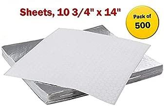 Insulated Foil Sandwich Wrap Sheets,10 3/4