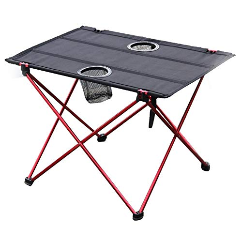 Cheniess Aluminio Portable Peso Ligero Mesa Plegable Mesa de jardín Mesa Plegable Que acampa con Bolsa de Transporte para Jardín Al Aire Libre