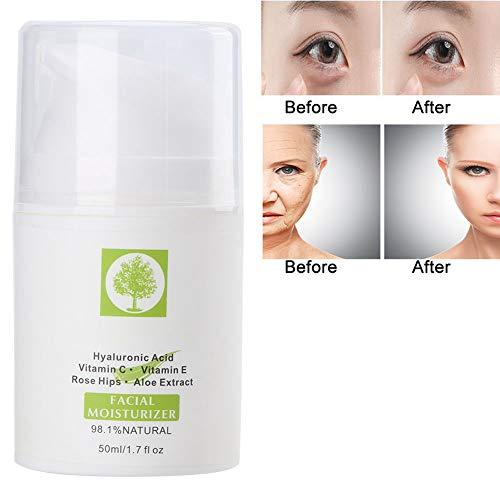 50 Ml Crema Facial Hidratante Natural - Eliminación de Arrugas Nutritiva Reparación Crema Iluminadora Cuidado Esencial Esencia(02)