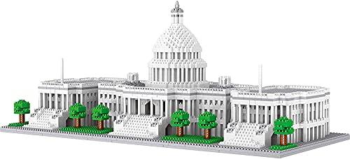 3796pcs + la Casa Blanca de Washington Diamond Building Blocks America Architecture Modelo 3D Micro Bricks Toy For Kid Adult Regional