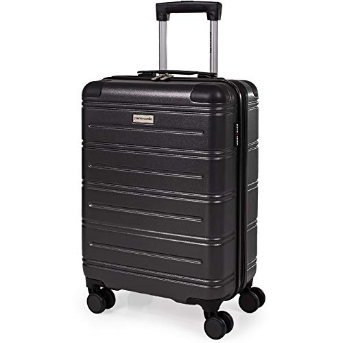 Pierre Cardin ABS Hard Shell 22 Inch Suitcase - Cabin Approved British Airways Hand Luggage with 8 Spinner Wheels | Hard Sided Fits 56x45x25 | Weighs 2.8kg Cap 38.9L Heigh 55.5cm (Small)