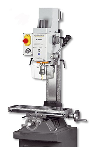 Fräsmaschine Schraubstock Bohrer HSS Optimum Quantum BF16V