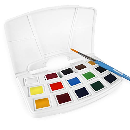 Royal Talens - Art Creation Watercolor Pocket Box - Includes 15 Pans and Brush