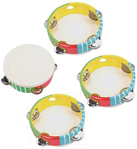 alles-meine.de GmbH 10 STK _ Tamburin - aus Kunststoff - Perkussion - Tambourin - für Kinder & Erwachsene - Musikintrument / Instrument - Musikinstrumente - Schlaginstrument / Ki..