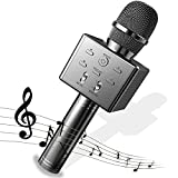 BeTIM Wireless Bluetooth Karaoke Microphone,Cordless Singing Microphone,Portable Handheld Karaoke Mic Speaker Professional Machine Compatible with Smartphone and PC for Birthday Home Party (Jet Black)