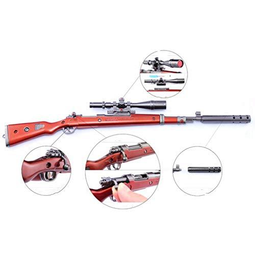 Accesorios De Juegos 1/6 Escala Metal 98K Modelo De Francotirador Pistola Arma Figura De Acción Llavero Juguetes para Accesorios De Figura De Soldado Estadounidense (1)