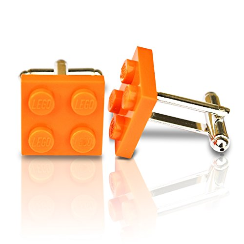 SJP Cufflinks LEGO® Teller Manschettenknöpfe (orange) Hochzeit, Groom, Herren Geschenk