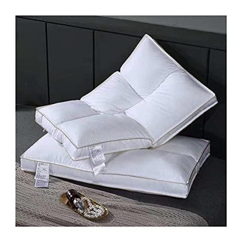 Almohadas Suaves y Exquisitas del Hotel Almohadas de Cama para Dormir, Almohada de Hotel de Lujo (Paquete de 2) Carcasa con Fuelle de Microfibra Suave Hipoalergénica 29x19 Pulgadas Blanco