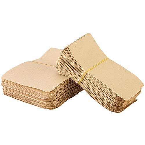 DXIA 150 pieza Bolsas Papel Kraft, 8 × 10 cm Pequeñas Bolsas...