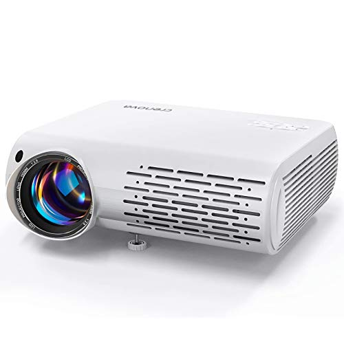 Video Projector 1080P Supported, Crenova Mini Projector 6500 Lux Home Movie Projector, 200