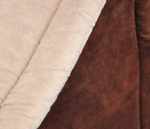 nanook Hunde-Höhle Hunde-Haus COSY für große Hunde XL und XXL, Wildleder-Optik, braun grau, Indoor - 5