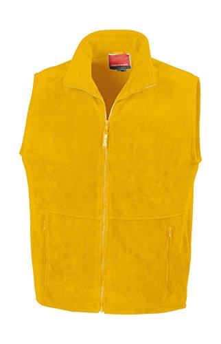 Result gilet veste sans manches en polaire polaire veste xS s m l xL xXL FR:58/60 Jaune/noir - Jaune