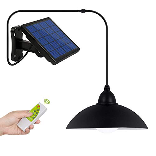 Luz Solar, Instalación de Separación Luz del Sensor Solar, Foco Solar Sensor de Movimiento con Mando a Distancia, Combinación Exterior / Interior, para Entrada, Jardín, Camino, Césped