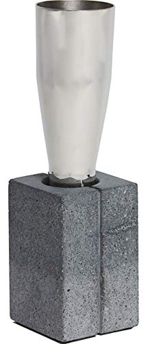 Large Tall Pewter and Concrete Vase In Topain Design Ideal for Engraving