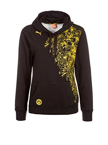 PUMA Damen Sweatshirt BVB WMS Fan Hoody, Black, XXXL