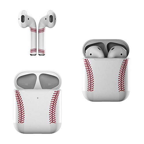 Skin Decals for Apple AirPods - Baseball - Sticker Wrap Fits 1st and 2nd Generation