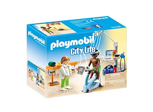 Playmobil 70195 City Life Beim Facharzt: Physiotherapeut, ab 4 Jahren, bunt, one Size
