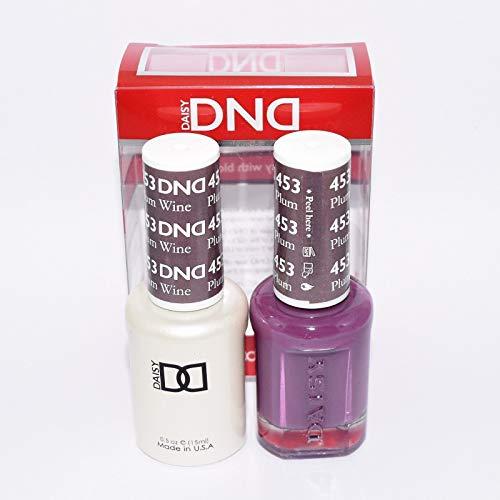 DNDDuo Gel (Gel & Matching Polish) Fall Set 453 - Plum Wine by DND Gel