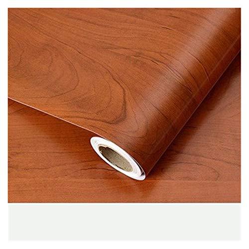 WHYBH HYCSP Holzmaserung Tapete Vinyl Selbstklebendes Dekorfolie for Wohnzimmer Küchenschrank Möbel Wasserdicht Kontakt Papier (Color : Hematoxylin, Size : 40cm x 8m)
