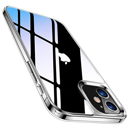 TORRAS ガラス iPhone 12 用 ケース iPhone 12 Pro 用 ケース 高透明 9H旭硝子背面 TPUバンパー 黄変防止 三層構造 耐衝撃 ストラップ穴付き 2020年6.1インチ アイフォン 12Pro用 12用カバー クリア