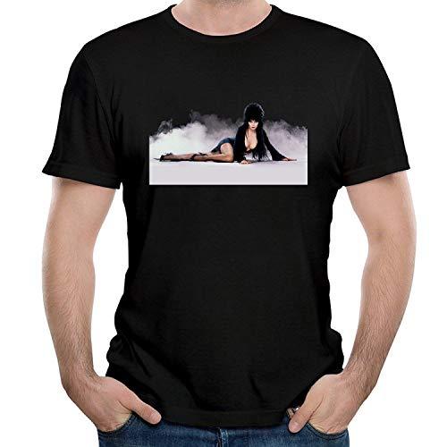 HAIZHENY Herren Elvira Poster Cotton T-Shirt Tee Small