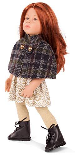 Götz 2066767 Happy Kidz Katharina Puppe - 50 cm große Multigelenk-Stehpuppe mit roten Haaren und steingrauen Augen - 6-teiliges Set